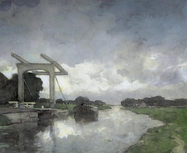Johan Hendrik Weissenbruch - Drawbridge near Noorden, 1890 at Rijks Museum Amsterdam Netherlands