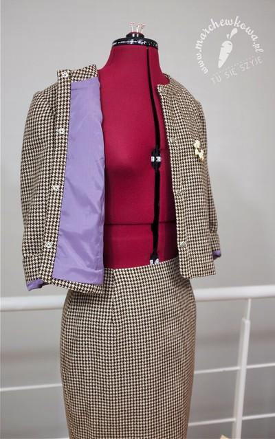 marchewkowa, blog, szycie, krawiectwo, pracownia marchewkowej, tu się szyje, wrocław, retro, vintage, style, fashion, moda, kostium, pepitka, 50s