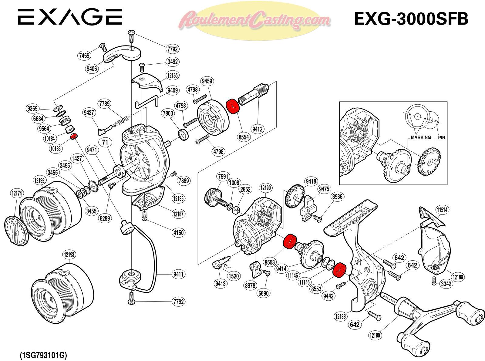 Schema-Shimano-EXAGE-3000SFB