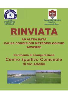 Rutigliano-RInvio Inaugurazione centro sportivo comunale