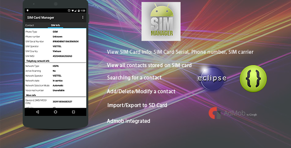 Codecanyon SIM Card Manager with Admob