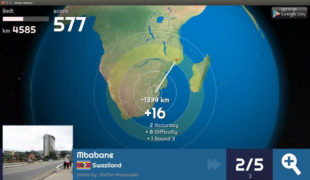 Globe Master 3D - Mbabane