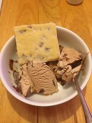 Shortbread and ice cream yummy