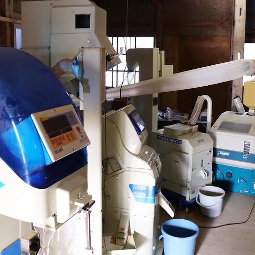 精米までの様々な機械。これはテンション上がる。 #なんと #南砺 #富山県