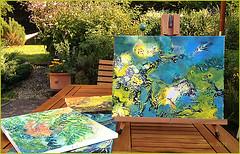 """""""Ab ins Wasser"""" im Garten /""""Into the water now"""" in the garden, 2015"""