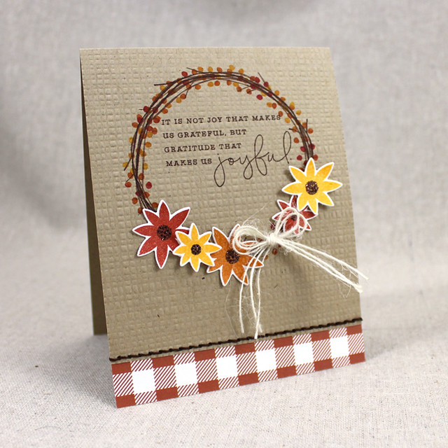 Joyful Autumn Wreath Card