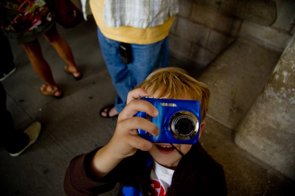 nephew taking photos