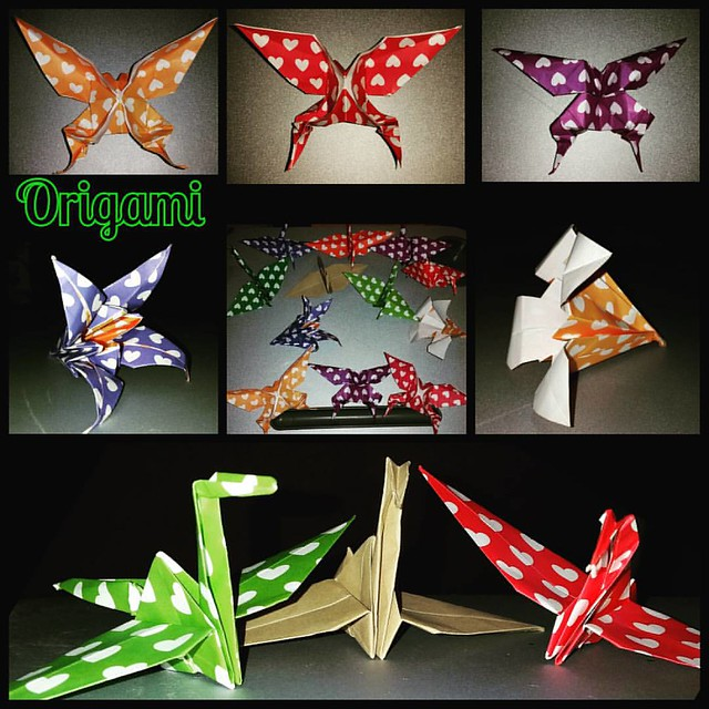 #origami #butterfly #craine #lily #flower #paperfolding #love #paper #fold #creative #woman