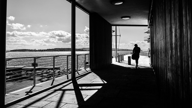 A sunny day - Oslo, Norway - Black and white street photography