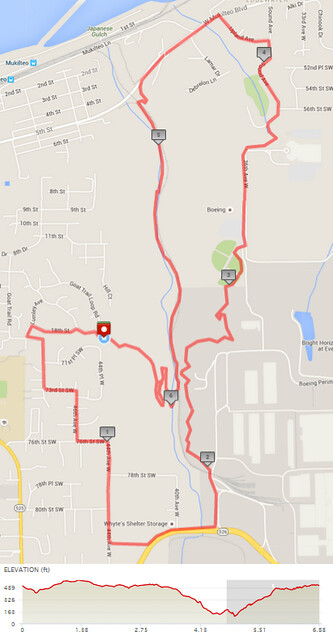 """Today""""s awesome walk, 6.88 miles in 2:34, 14,800 steps, 621ft gain"""