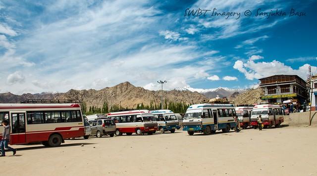 Main bus stop at Leh