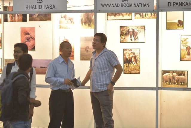 Forest Officilas from Bhutan enjoying the Photo Exihibition at the 2015 Balipara Foundation Awards