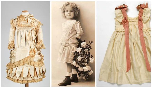 Robes de petites filles victoriennes