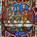 Last Supper - stained glass window, France 14th Century by jcb58