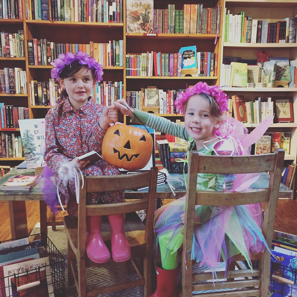 cutest little fairies helping me pass out candy at shop...