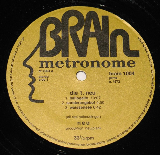NEU! FOC BRAIN METRONOME MICHAEL ROTHER  First Issue on Brain Metronome Record Label