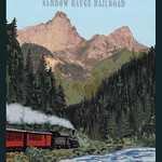 Julie Leidel; Durango & Silverton Narrow Gauge Railroad; Gouache; 2015; 24x20 - Art of the State 2016 at the Arvada Center for the Arts and Humanities