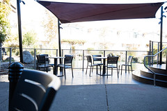Tables on a patio