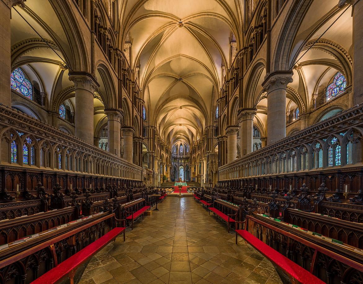 Canterbury Cathedral - 12th-century choir. Credit: David Iliff