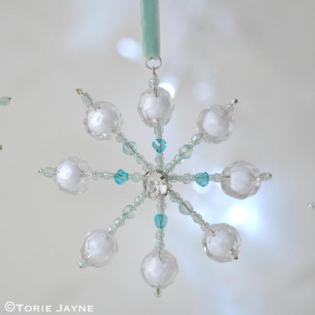 DIY beaded snowflake 5