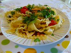 Reginette Napoletane con cozze e pomodoro Pachino
