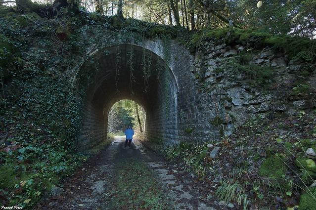 pont de l'ancienne voie ferrée - Evillers - Amathay-Vésieux