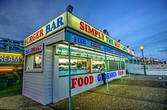 Fish and chip shop on Brighton beach, England