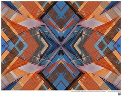 Modern Mandala Title: ​William Temple Franklin, Called Temple or the Luckman  Fine Arts Complex at Cal State LA IX  #BartRoss ©2016  #calstatela #mirrored #artists_magazine #abstractphotography  #artprints #sharingart #Curator #LAart #surreal42