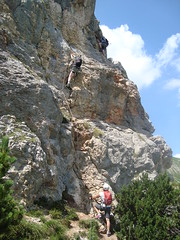 Pittig stukje klettersteigen