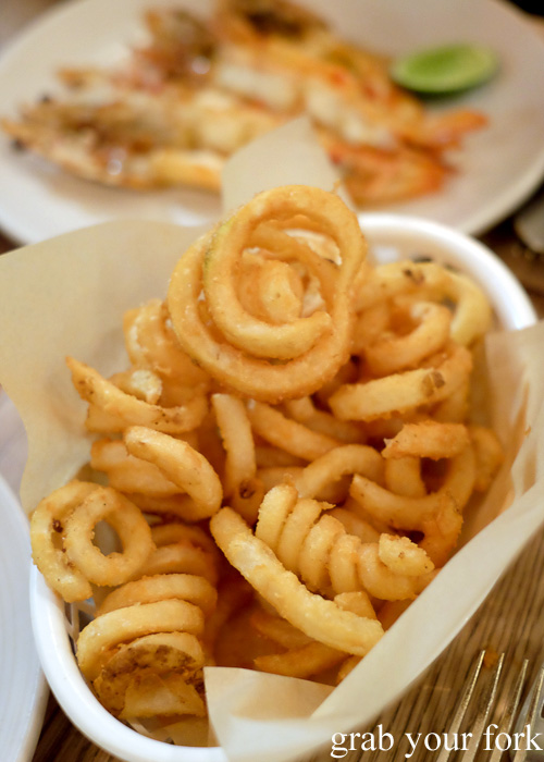 Curly fries at Papi Chulo, Manly