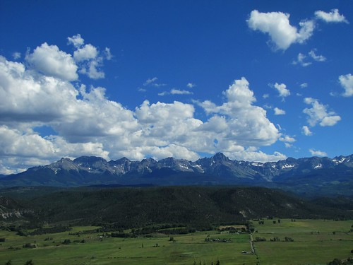 summer sky mountains clouds rural colorado ridgway sanjuanmountains sneffelsrange