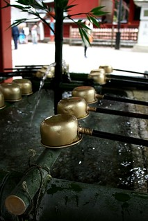 Water to cleanse yourself - Honden Shrine
