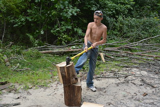 Youth in Whitesville, WV Cut Firewood with RAMPS Youth Engagement Project