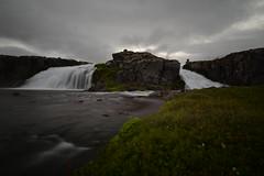 Waterfall on dynjandisa river