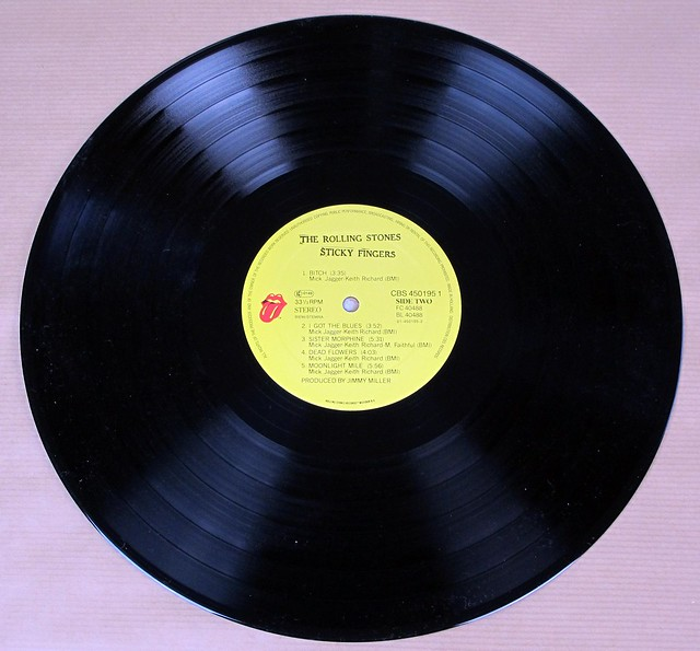 "ROLLING STONES STICKY FINGERS CBS HOLLAND NL 12"" LP VINYL"