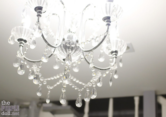 Dainty chandelier at C&C