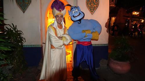 Prince Ali and Genie at Disneyland Halloween Party