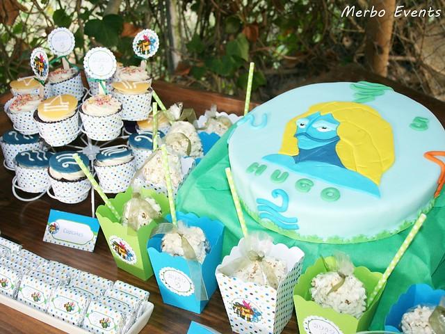 Decoracion cumpleaños gormiti Merbo Events