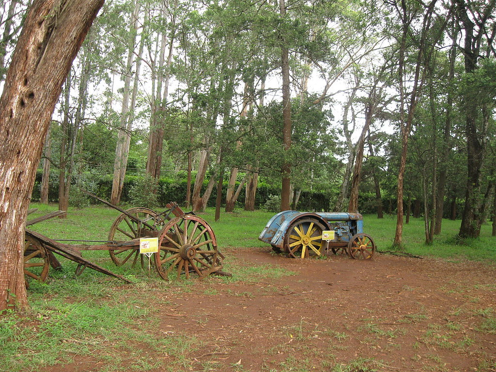 Farm equipment at the Karen Blixen Museum in Kenya.