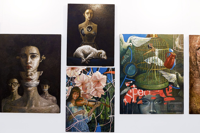 Sundae Scoops Manilart 2015 Oil on Canvas Paintings from Galerie Anna