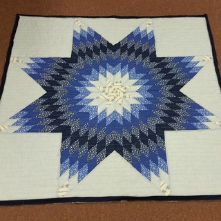 Oldest UFO ever! Mom's first quilt, 1985, quilted and bound.