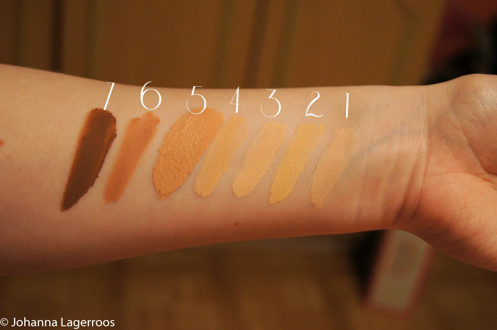 Clarria Lucky 7 swatches 1