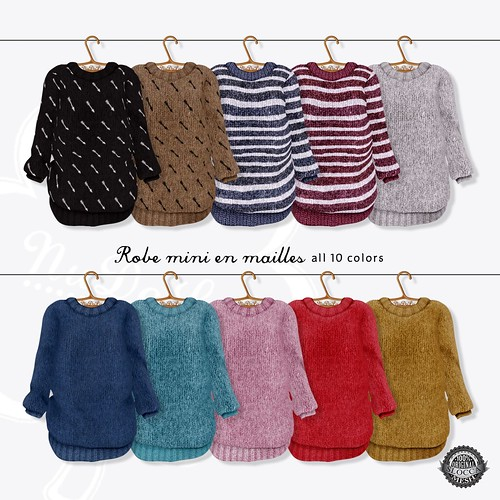 NuDoLu Robe mini en maille all colors AD