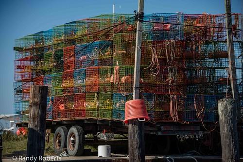 Colorful Crab Traps of Wanchese