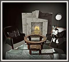 22769 ~ [bauwerk] Art Deco Lounge - Enchant3D - Roaring 2020s Fireplace