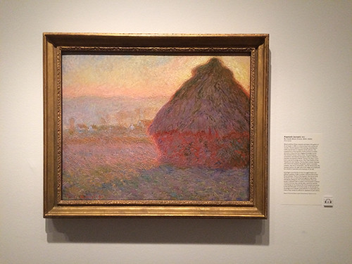 IMG_2861 _ Haystack (sunset), Claude Monet, Looking East, Asian Art Museum