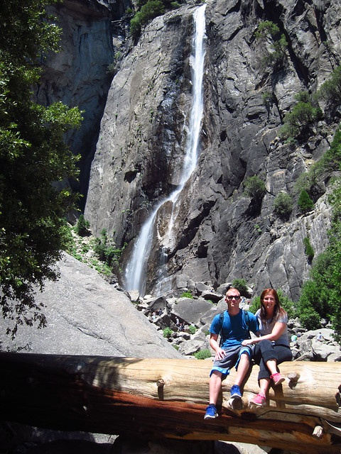 Megan and Jordan at Lower Yosemite Falls