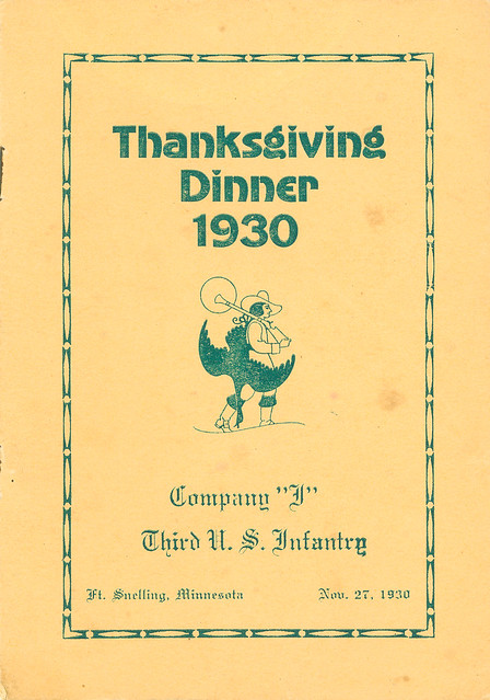 1930-11-27-Thanksgiving Menu-Company I-1