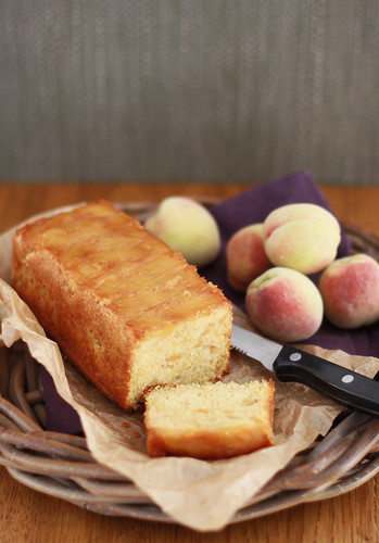 Caramelized Peach Upside-Down Cake