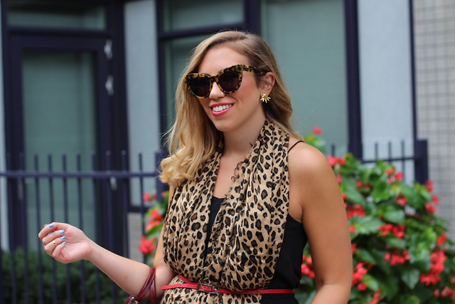 Leopard Scarf & LBD at #NYFW